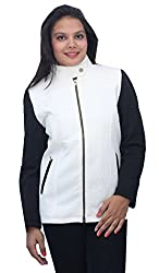 Romano Premium White Winter Zipper Jacket for Women