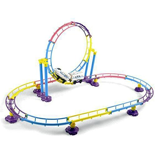 High Speed Roller Coaster Bullet Train Toy Building Set (77 Pcs) (Toy Bullet Train compare prices)
