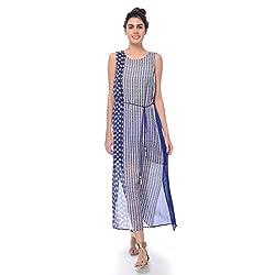 Desi Belle Casual Sleevless Printed Women's Maxi Dress