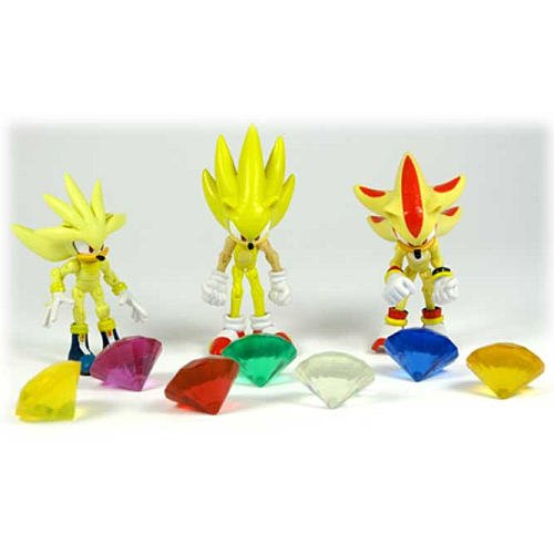 Super Silver  Super Sonic Super Sonic And Super Shadow And Super Silver Toys