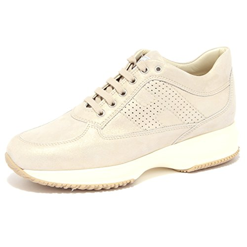 3919Q sneaker HOGAN INTERACTIVE oro scarpa donna shoe woman [38.5]