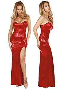 Sexy Red Metallic Jessica Rabbit Gown - Medium