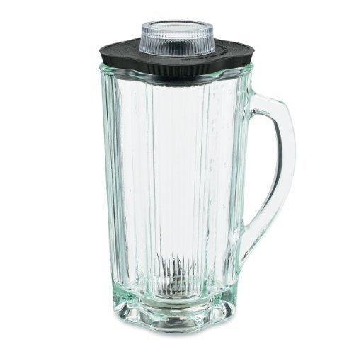 Waring Commercial Cac34 Complete Glass Container With Blade And Lid, 40-Ounce Home & Kitchen front-617211