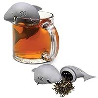 Shark Tea Infuser Novelty Brew Hot Beverage Strainer (Gray)
