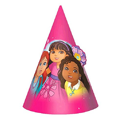Amscan Dora and Friends Paper Cone Hats
