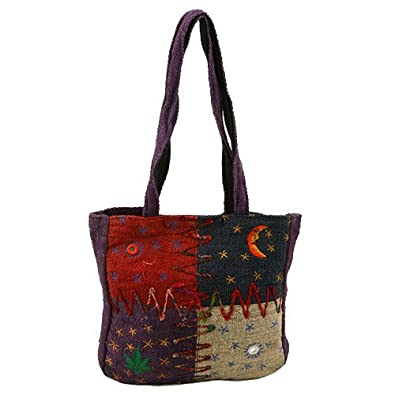 Hemp Fabric Shoulder Bag - Embroidery