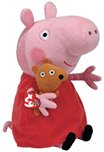 Peluche de Peppa Pig con osito y vestido rojo (25 cm) - TY 7196230 Peppa Large
