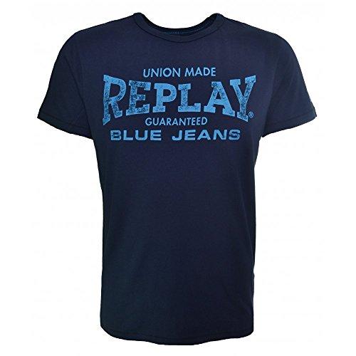 Replay -  T-shirt - Classico  - Maniche corte - Uomo blu XX-Large