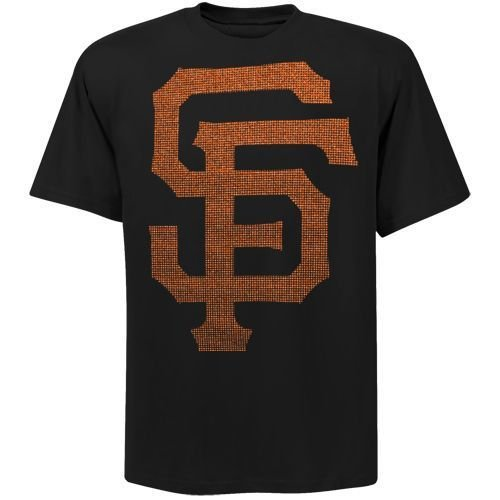 San Francisco Giants Bling Logo T Shirt (Black)