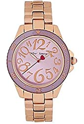 Betsey Johnson Rose Gold Violet Ladies Dial Watch