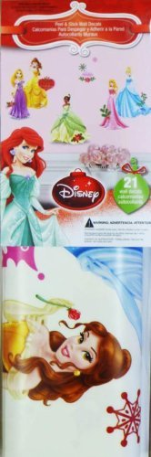 Disney Character Christmas Holiday Peel & Stick Wall Decorations (Princesses)