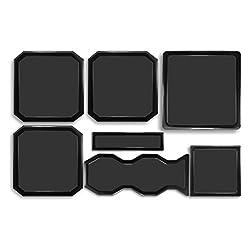 DEMCiflex Dust Filter Kit for Cooler Master HAF-X 7 Filters Black Frame Black Mesh