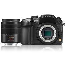 Panasonic Lumix DMC-GH3K 16.05 MP Digital Single Lens Mirrorless Camera with Panasonic H-FS 45-150mm Lumix G Series Lens (Black)