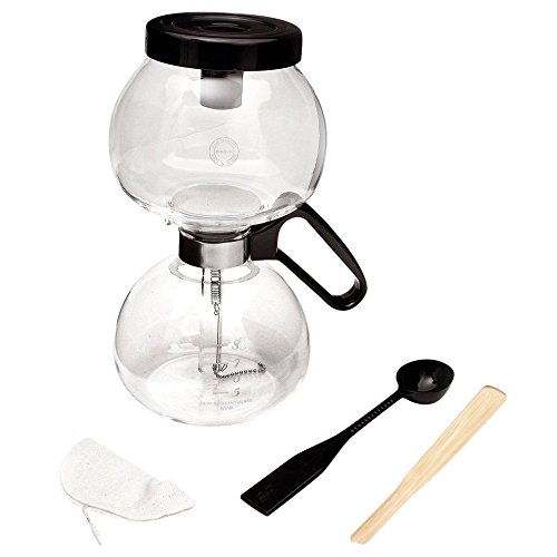 Yama Glass Stovetop Coffee Siphon with Bamboo Stir Stick (40 Ounce) (5 6 Burner Stove compare prices)