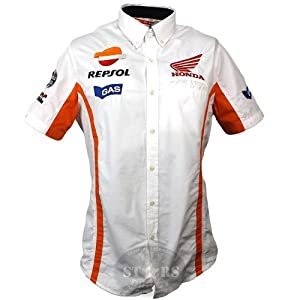 Officiel Honda Repsol gaz Moto GP Team Paddock Pit chemise Marquez Pedrosa
