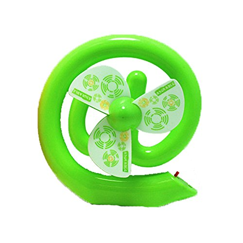 Portable Usb Powered Rechargeable Mini Plastic Cool Fan Desk For Best Choice In Summer Spring Fall Winter (Green)