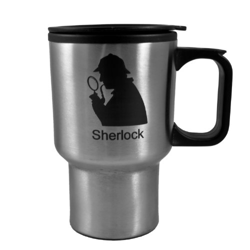 14Oz Sherlock Stainless Steel Mug W/Handle