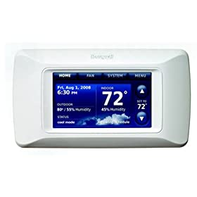 Honeywell THX9321R5000 Prestige HD Programmable Thermostat With High Definition Color Touchscreen Display