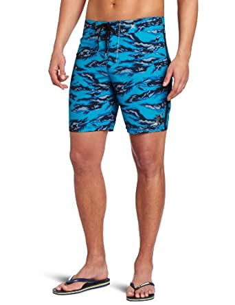 Hurley Men's Flamo Tiger Boardshort, Cyan, 34