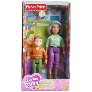 Fisher-Price Loving Family Grandma and Brother Dolls