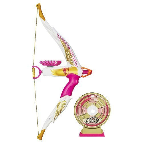 Nerf Rebelle Rompecorazones Exclusivo Oro Edge Bow con Target Bonus