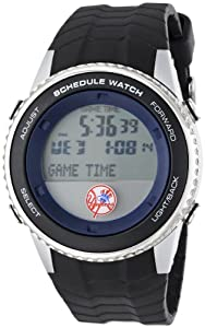 MLB Mens MLB-SW-NY5 Schedule Series New York Yankees Watch by Game Time