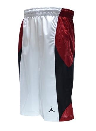 Jordan Durasheen Men's Athletic Basketball Shorts White/Red/Black 404309-112 (Size L)