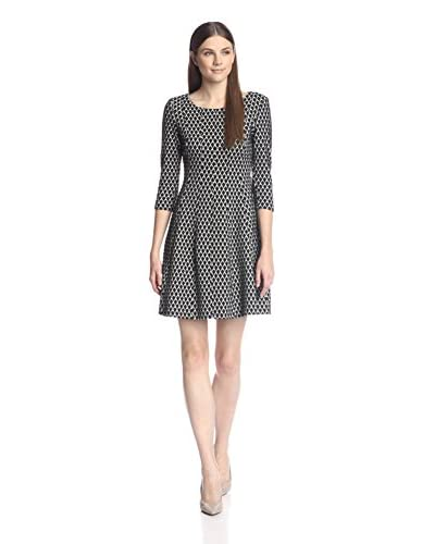 Taylor Women's Jacquard Fit-and-Flare Dress