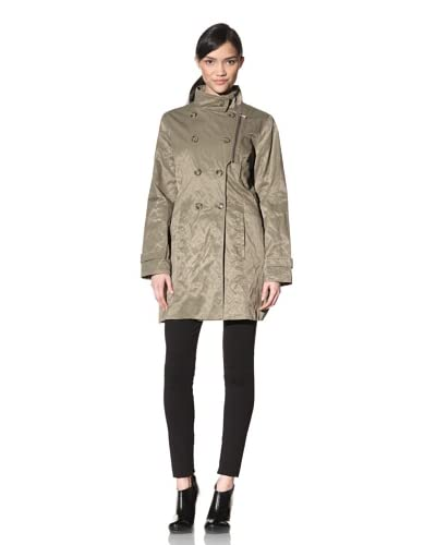 Rainforest Women's Double Breasted Trench Coat  - Sage