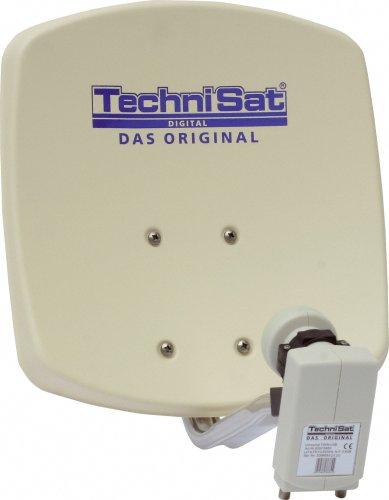 TechniSat DigiDish 33 Zweiteilnehmer-Set best.aus DigiDish 33, Universal Twin LNB, 1x DIGIT MF4-S,10m Kabel, beige