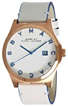 Marc Jacobs Henry White Dial Rose Gold-tone Stainless Steel Mens Watch MBM1249