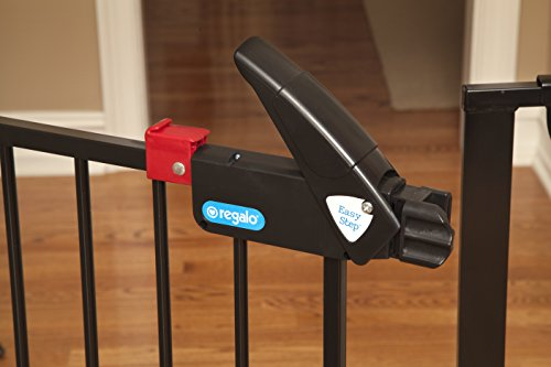 Regalo Deluxe Easy Step Extra Tall Gate Black Baby