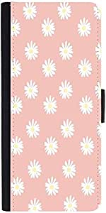 Snoogg Pink Flower Designer Protective Phone Flip Case Cover For Samsung Galaxy A8