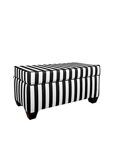 Skyline Furniture Storage Bench, Canopy Black/White