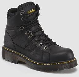 Dr. Martens Men\'s Ironbridge Ns Work Boot,Black/Industrial Grizzly,7 UK/8 M US