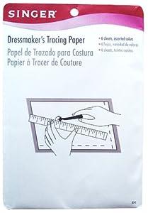 Singer Dressmaker's Tracing Paper Assorted Colors, 6 Sheets