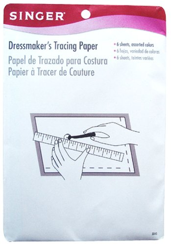 Singer Dressmaker's Tracing Paper Assorted Colors, 6 Sheets (Wax Tracing Paper compare prices)