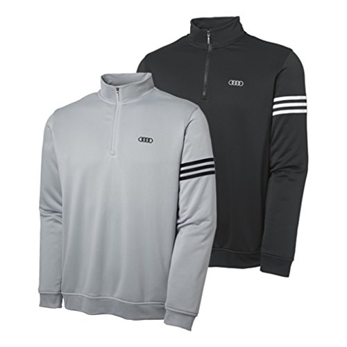 Genuine Audi Men'S Climalite 3-Stripe Pullover By Adidas - Black - Size Extra Large