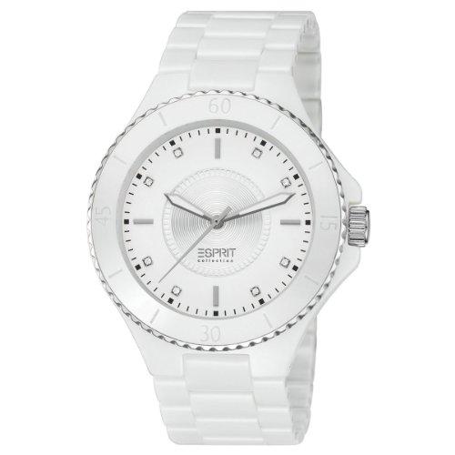ESPRIT Collection EL101322F14 - Reloj analógico de cuarzo para mujer con correa de cerámica, color blanco