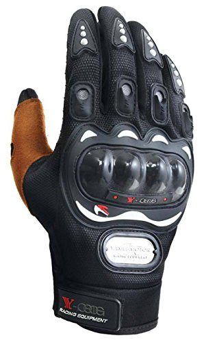 OrrinSports Anti Skid Hard Wearing Cycling Motorcycle Gloves Black L