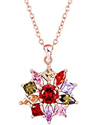 Yellow Chimes High Quality Swiss AAA Zircon Multicolor Chakra Pendant For Women And Girls