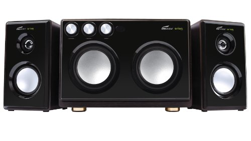 Arion Legacy Ar514R-Bk 2.1 Speaker System With Dual Subwoofers And Karaoke Inputs -Black, 160W