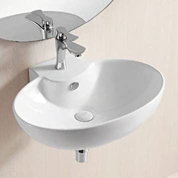Caracalla Caracalla CA4105-One Hole-637509833695 Ceramica II Collection Bathroom Sink, White