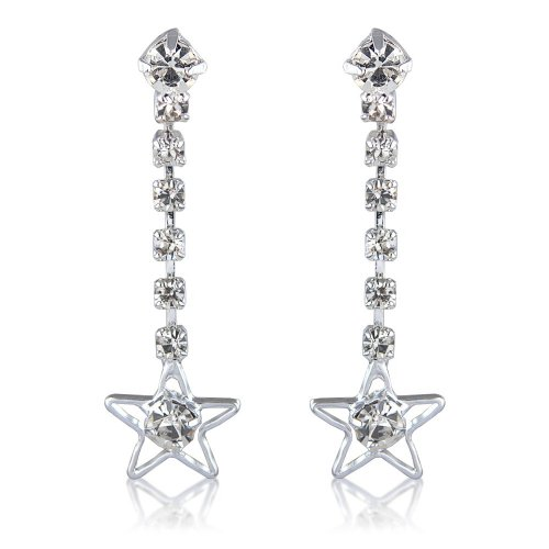 Star Earrings Diamante Costume Jewellery Earrings