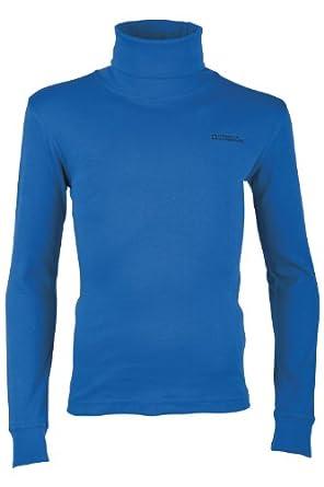 Mountain Warehouse Meribel Tee-Shirt Top Enfant Fille Garçon Baselayer Confort Col Roulé 100% Coton Bleu De Cobalt 98