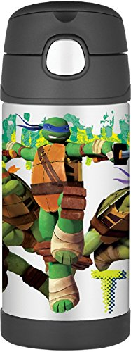 Thermos Funtainer 12 Ounce Bottle, Teenage Mutant Ninja Turtles(Colors & Style may vary) (Ninja Turtles Water compare prices)
