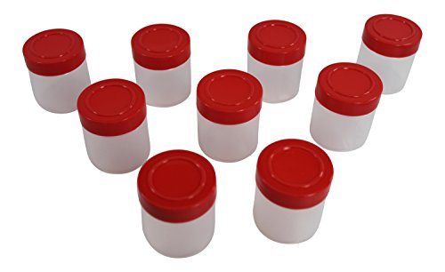1oz Plastic Spice Jars/Bottles/Containers with Sifter and Cap Set 9 by Pinnacle Mercantile (Small Spice Bottles compare prices)