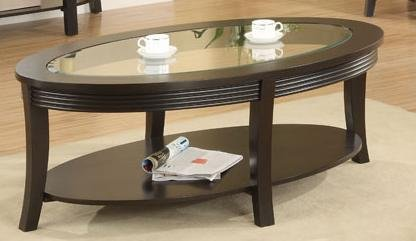 Coffee Table in Dark Brown Finish by Poundex