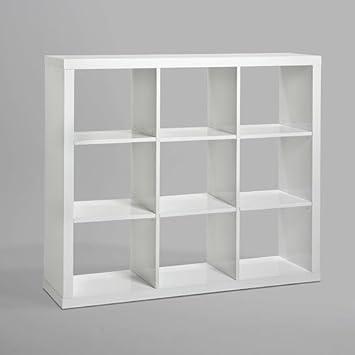 Verkauf Raumteiler Bucherregal Layne Hochglanz Weiss 151x135cm