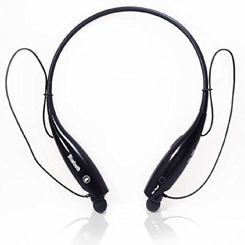 Wireless Bluetooth Stereo Headset Hv 800 Black Universal Vibration Neckband Style Headphones - A2dp Compatible with Bluetooth Enabled Cellphones to Include Iphone, Nokia, Htc, Samsung, Lg, Motorola -